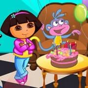 Baby Dora Boots Birthday Party Decor